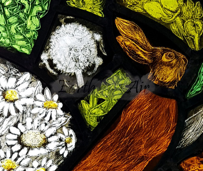 Hare panel detail