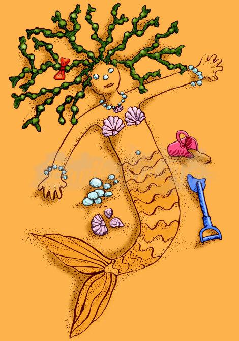 Sand mermaid