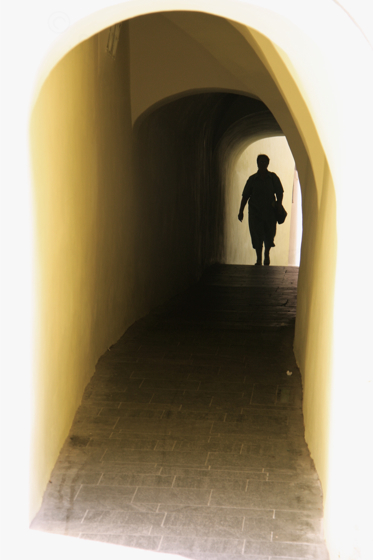 through the yellow passage