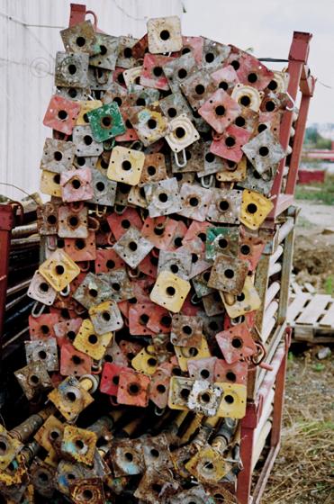 colourful scaffolding