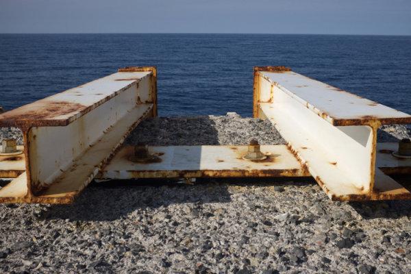 rusty seascape