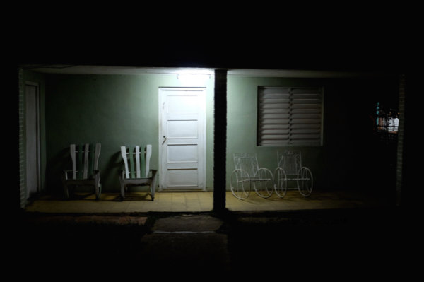 still night with rocking chairs