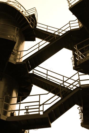 zig-zag stairs