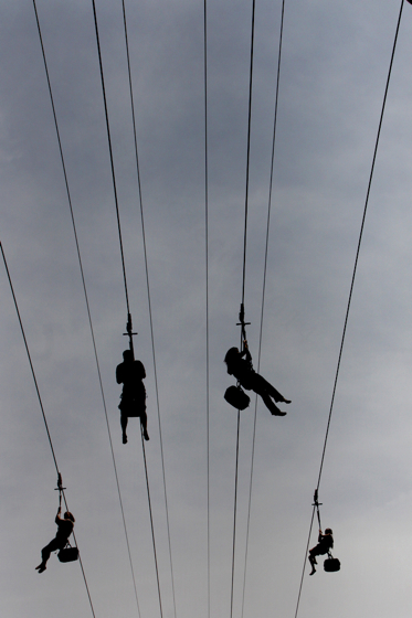 zipping across the sky