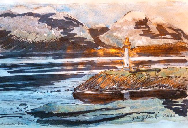 Ardnamurchan, watercolour