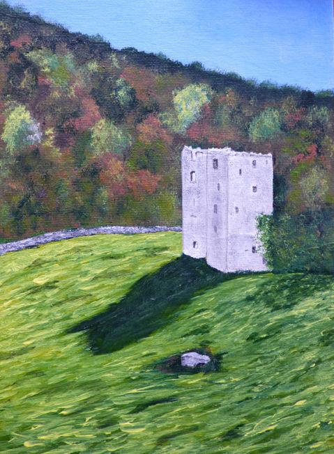 Arnside Tower; acrylic