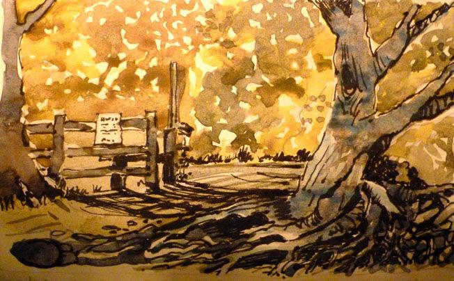 Arnside Knott; watercolour