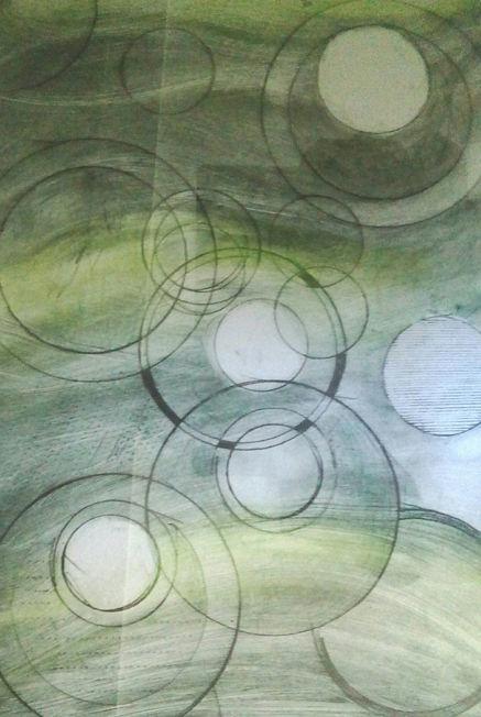 Circles; ink