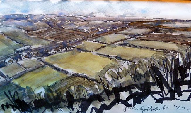 Cragview, watercolour