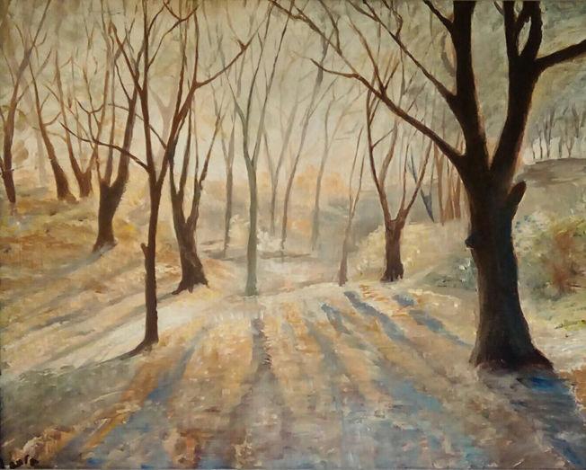 Lancashire Woods; acrylic