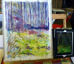 Robert Dutton Workshop, Sue's Work in Progressb
