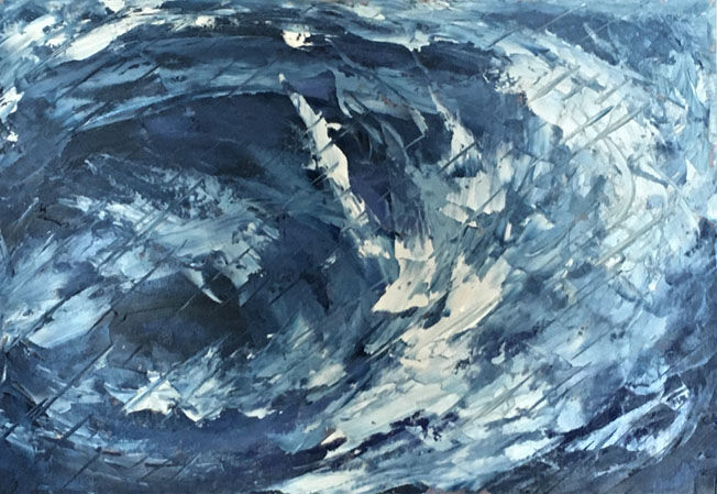 Sea Storm 1; acrylic on paper, A3 FS