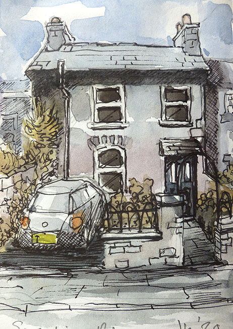 Serpentine Road; watercolour