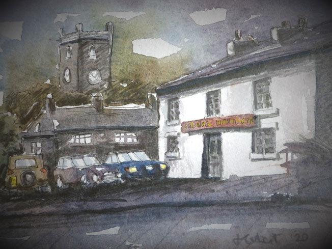 Warton; watercolour