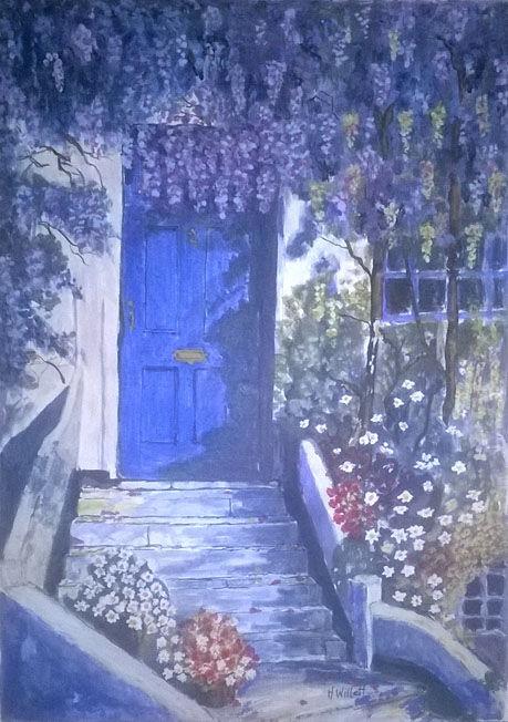 Blue Door, acrylic