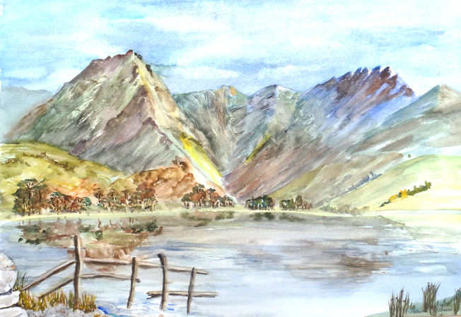 Buttermere 2; acrylic
