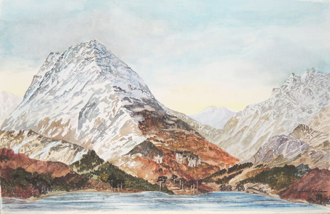 Buttermere 3; acrylic