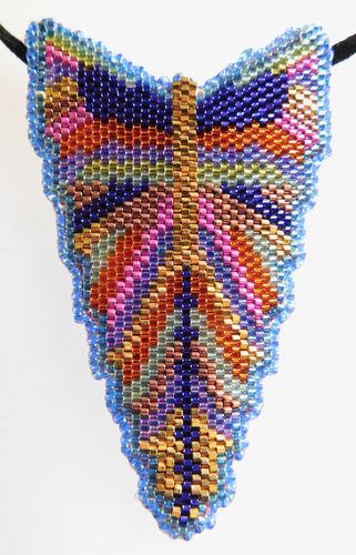 Deco Butterfly Pendant - Blue