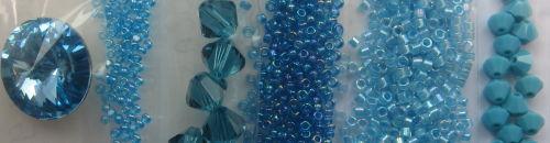 Crystal Infinity Flower Kit - Aegean Colourway
