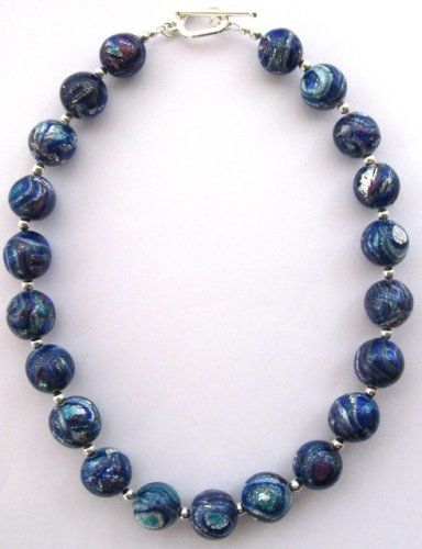 Mokume Gane Bead Necklace
