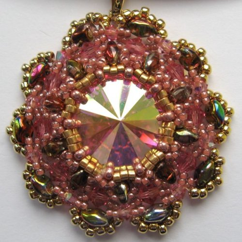 Sunburst Pendant - Rose