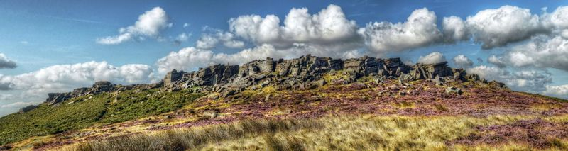 Clouds above Stanage Large Canvas