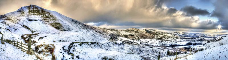 Hope Valley Winter Large Canvas