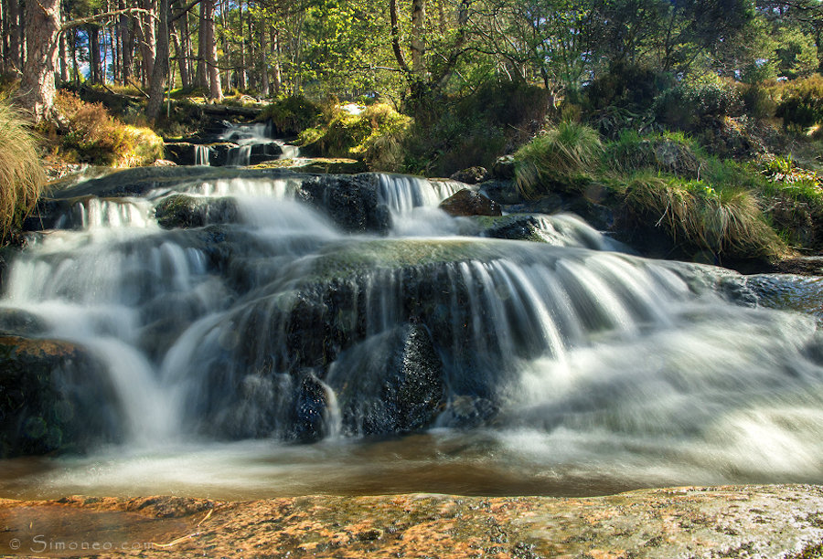 Badan Moscah waterfall in Glen Feshie, Cairngorms NP, Schotland