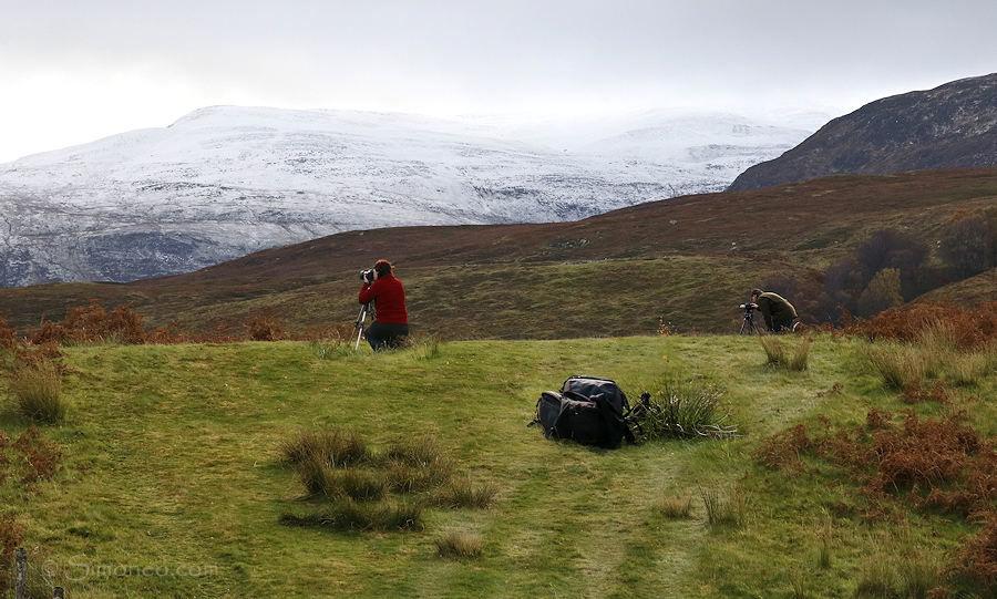 Deelnemers in actie tijdens een Schotlandreis