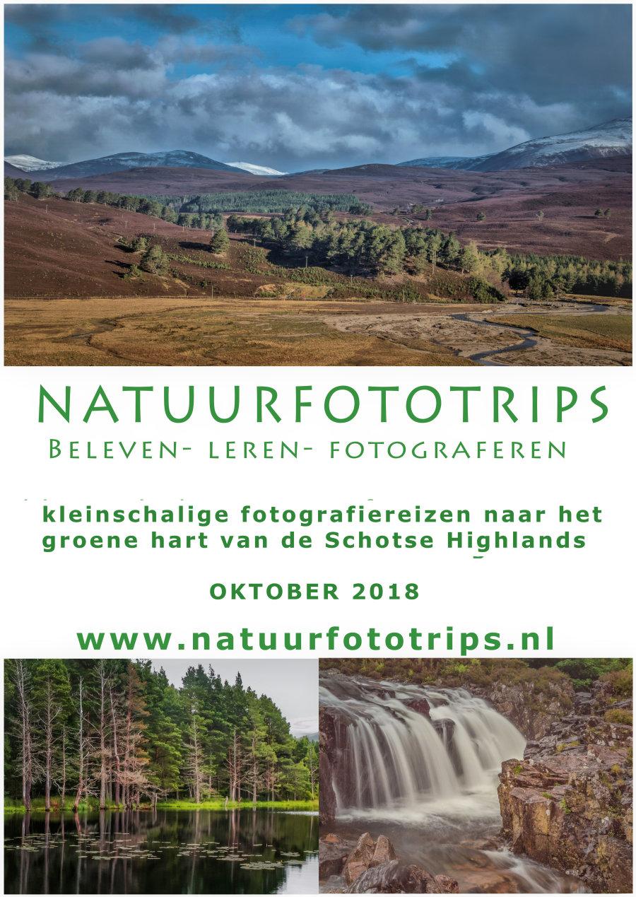 flyer fotografiereis schotland natuurfototrips