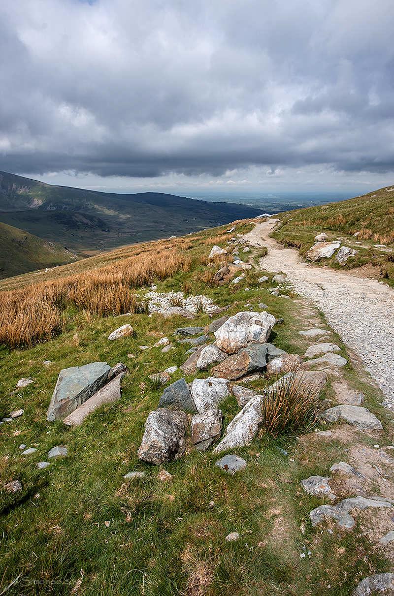 Halfway up Mount Snowdon
