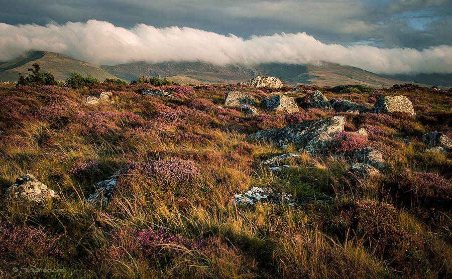 Lleyn Peninsula, Wales around sunset