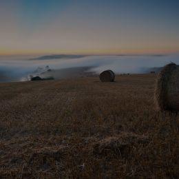 Misty Sunrise Over Amberley