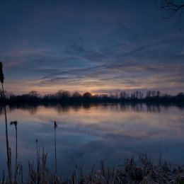 sunset at vinnetrow lake chichester