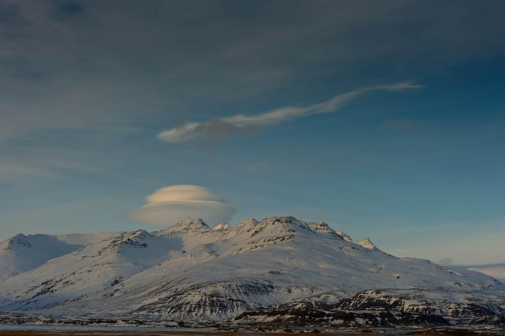 Lenticular Cloud over the Vatnajokull Glacier