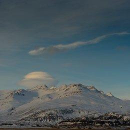 Lenticular Cloud over the Vatnajokull Glacier