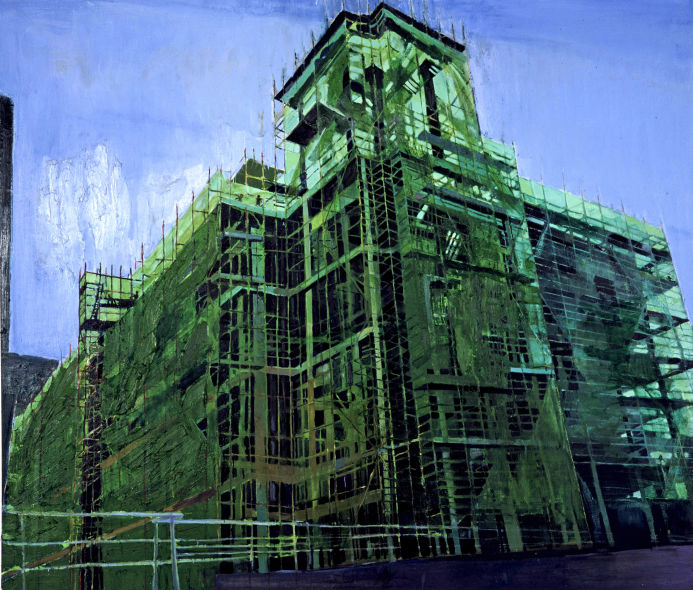 Tower Scaffolding, oil on canvas, Simon McWilliams