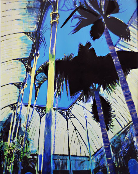 Bat Palm, Screenprint and relief print, edition of 15, £250 unframed
