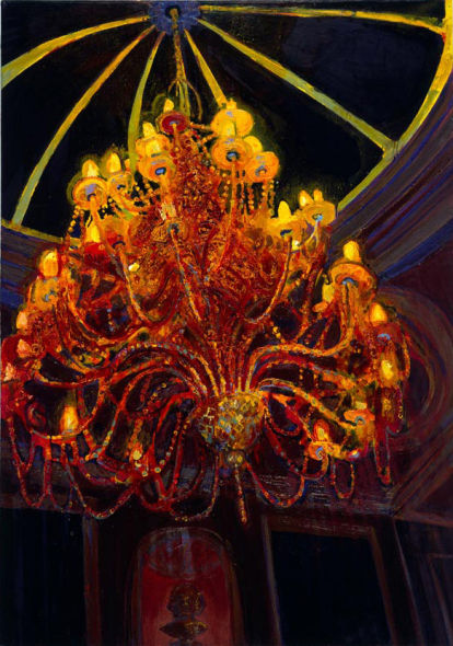 Chandelier II, oil on canvas, 57 x 36 inches