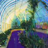 Glasnevin Palmhouse, oil on canvas 38 x 40 ins