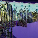 Hyde Park Gates, oil on canvas, 123cm x 154cm