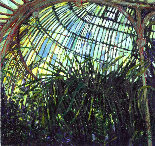In The Palmhouse, oil on canvas, 97 x 101cm