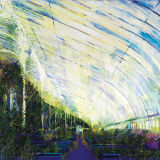 Inside the Palmhouse, oil on linen,