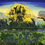 """Kew Gardens, Sunset"" oil and mixed media on linen 136 x 155cm,"