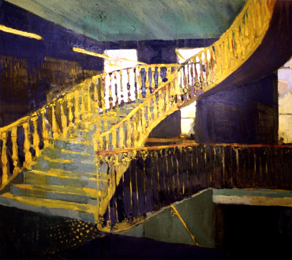 Linenhall Library II, oil on Canvas, Simon McWilliams Collection McCann Fitzgerald Solicitors Dublin