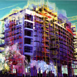 Metropolis, oil on canvas 170 x 213 cm