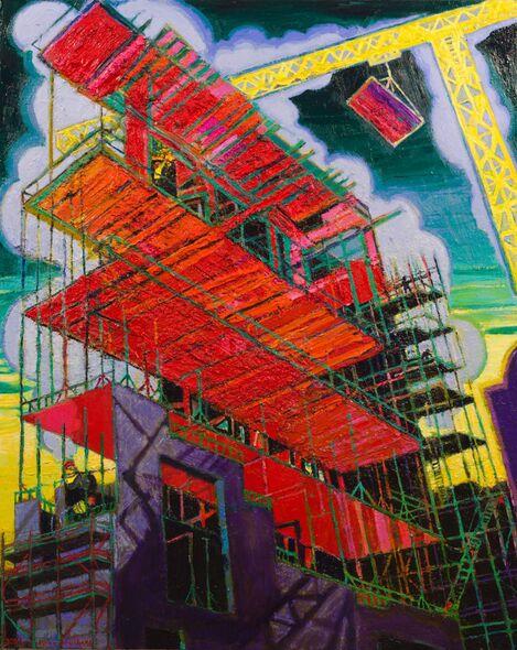 """NY Building Site"" oil on linen 100cm x 80cm 2021"