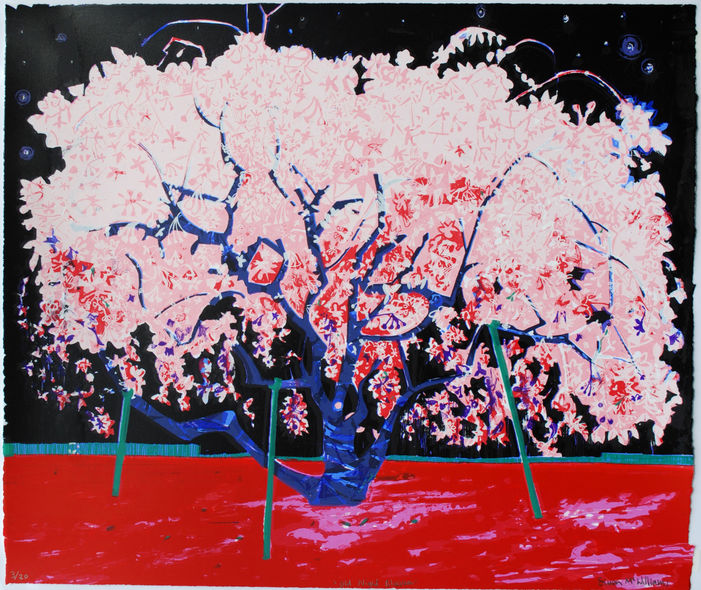 """Old Night Blossom"" edition of 20, Screenprint 59 x 67cm"