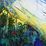 Palmhouse Vegetation, Belfast oil on canvas 24 x 32ins