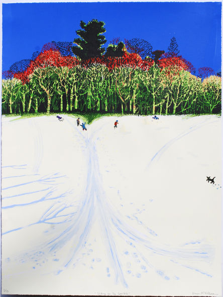 """Sliding on the Cave Hill"" ScreenPrint edition of 15"